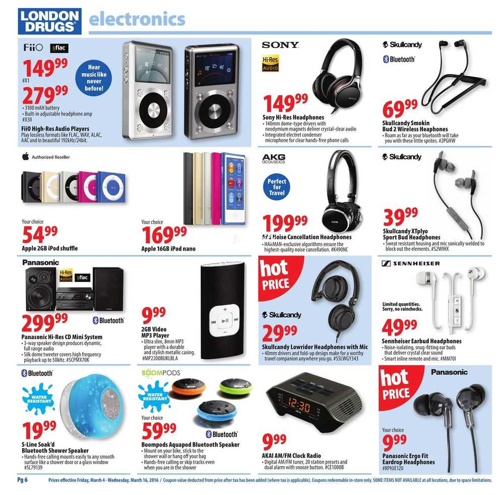 London Drugs Hi-Tech Savings Flyer March 4 to 16 Canada