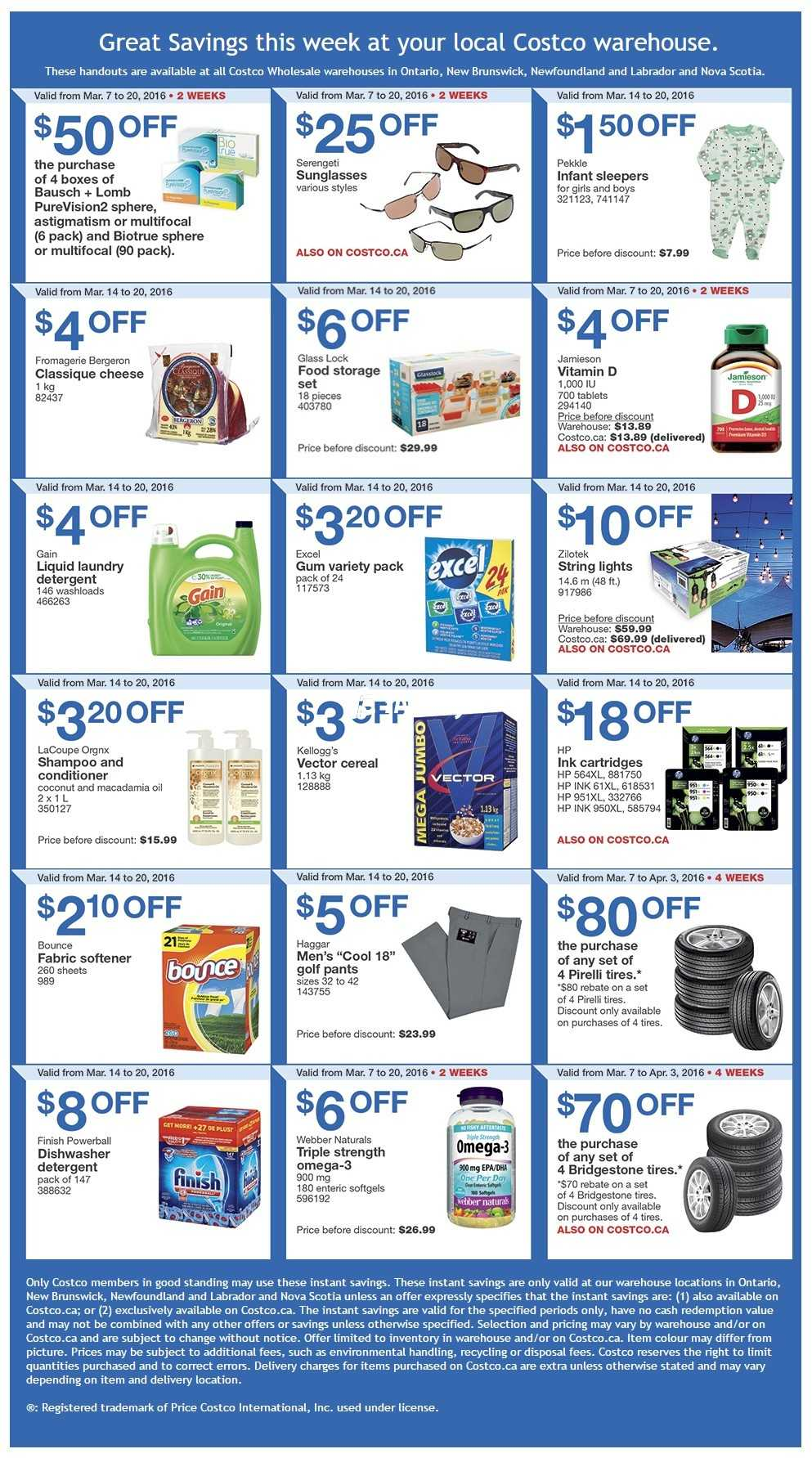 Costco Weekly Savings ON & Atlantic Canada March 14 to 20 Canada