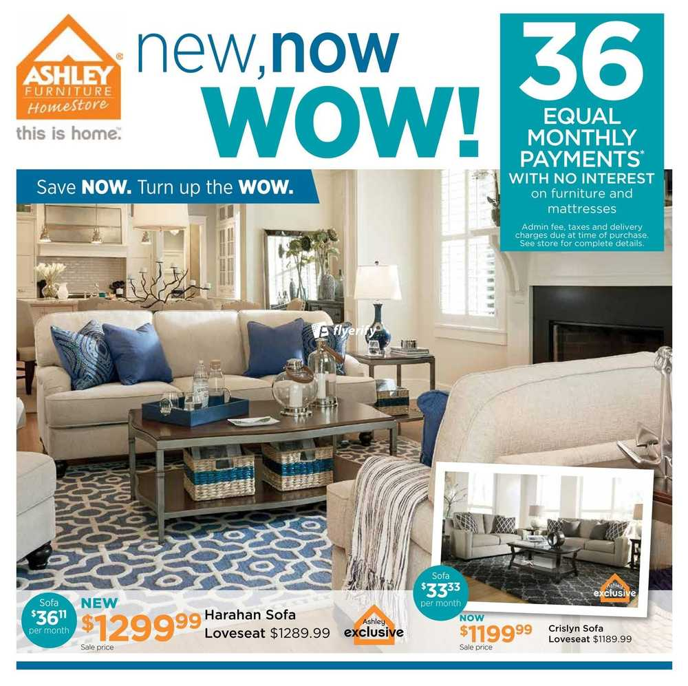Ashley Furniture HomeStore  ON  Flyer April 5 to 24. Ashley Furniture Homestore Flyers
