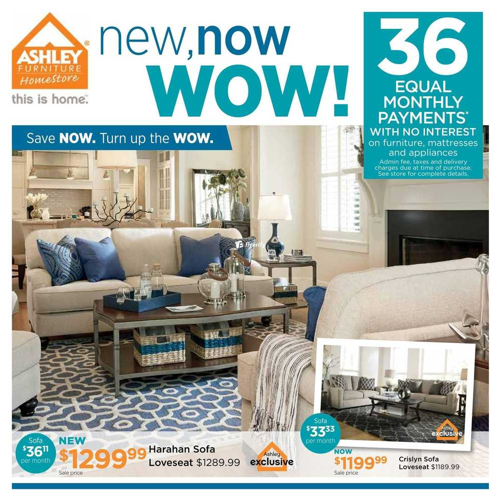 Ashley Furniture HomeStore (West) Flyer April 5 To 24 Canada