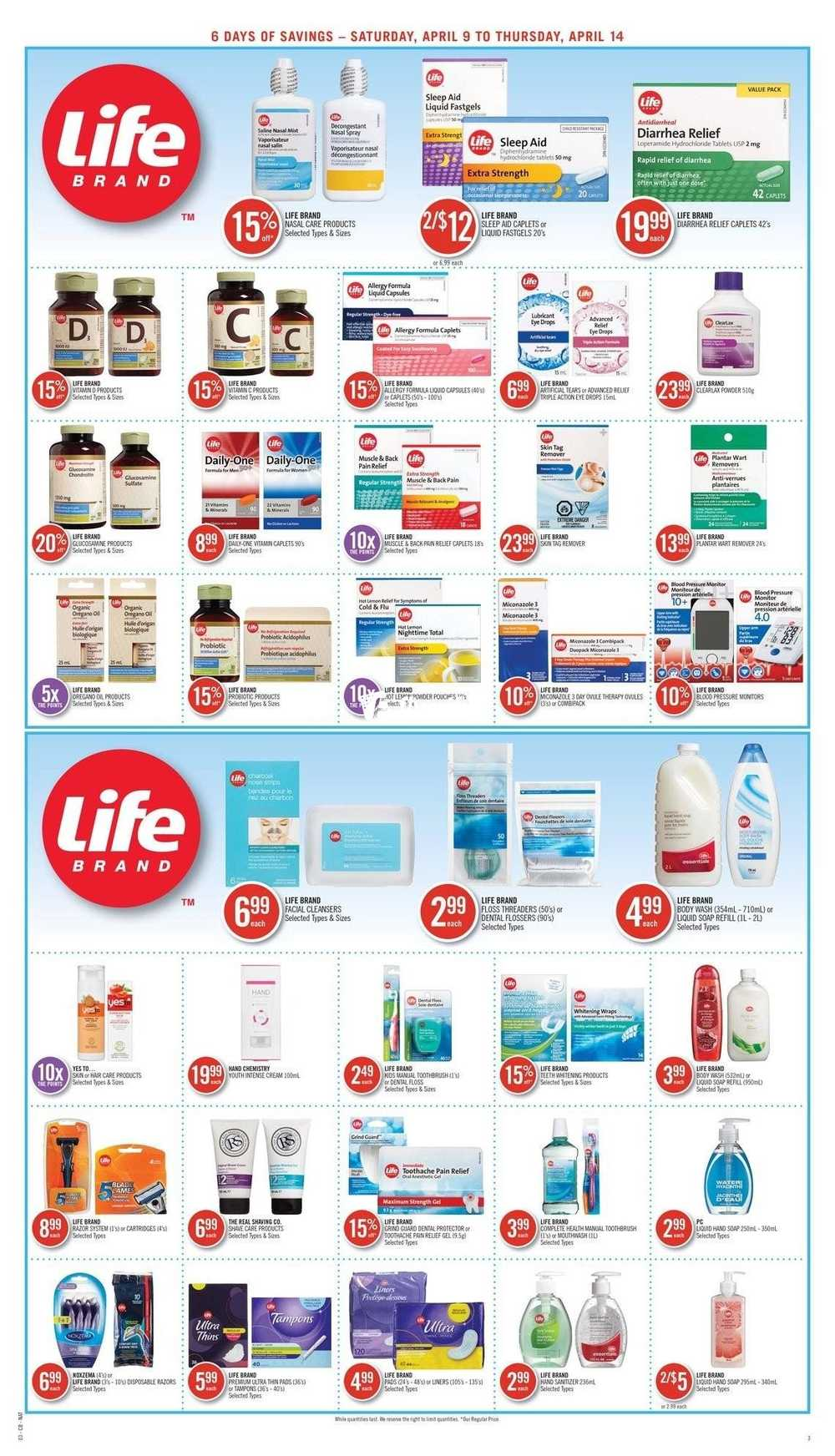 Shoppers Drug Mart (ON) Flyer April 9 to 14 Canada