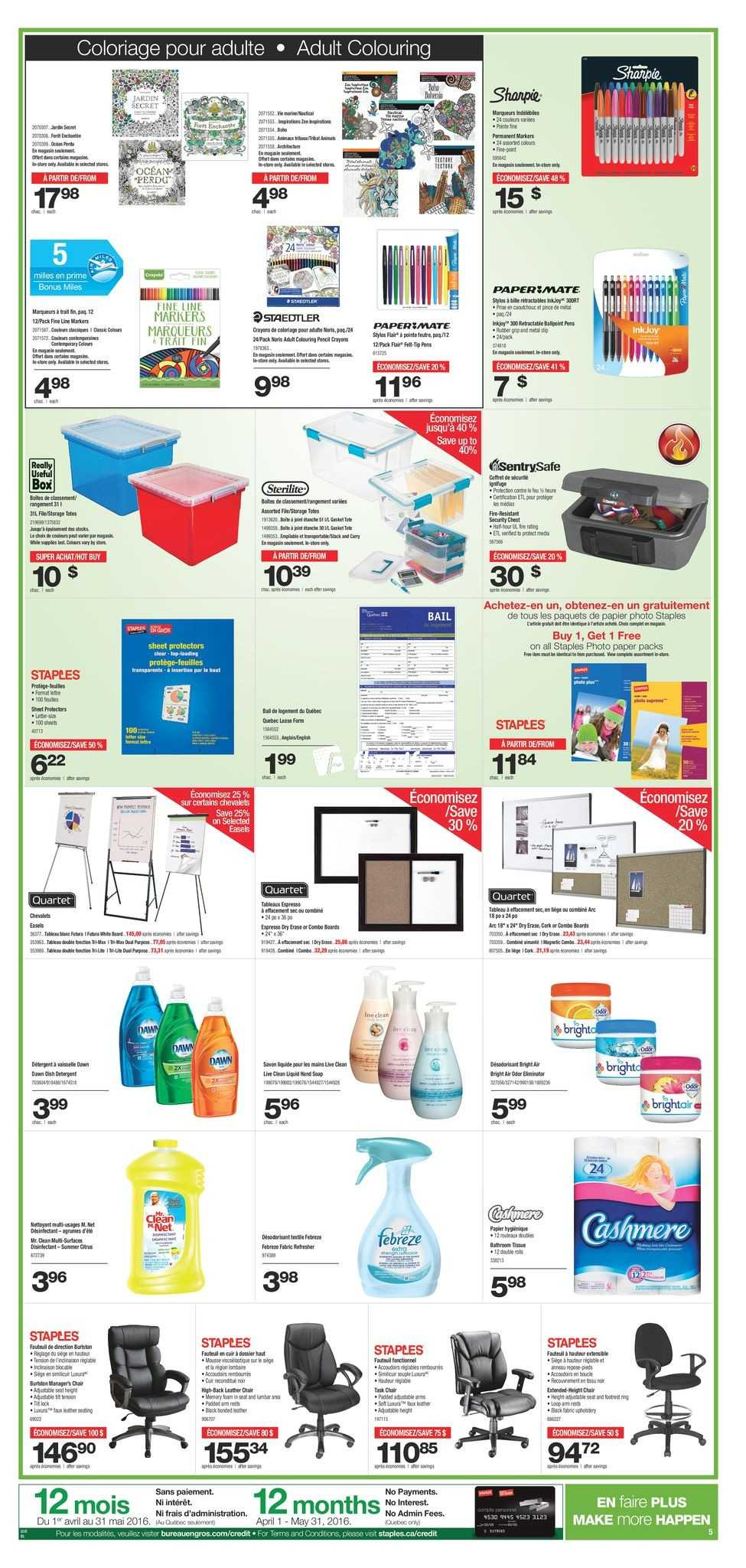 staples qc flyer april 20 to 26 canada