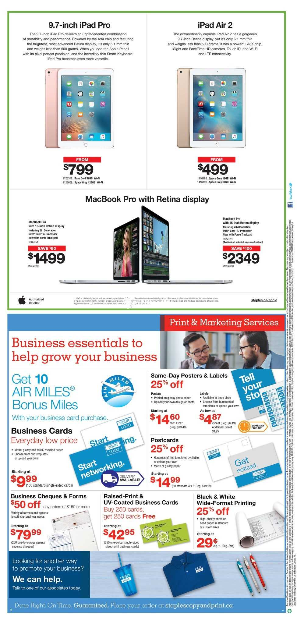 Staples Flyer April 20 To 26 Canada