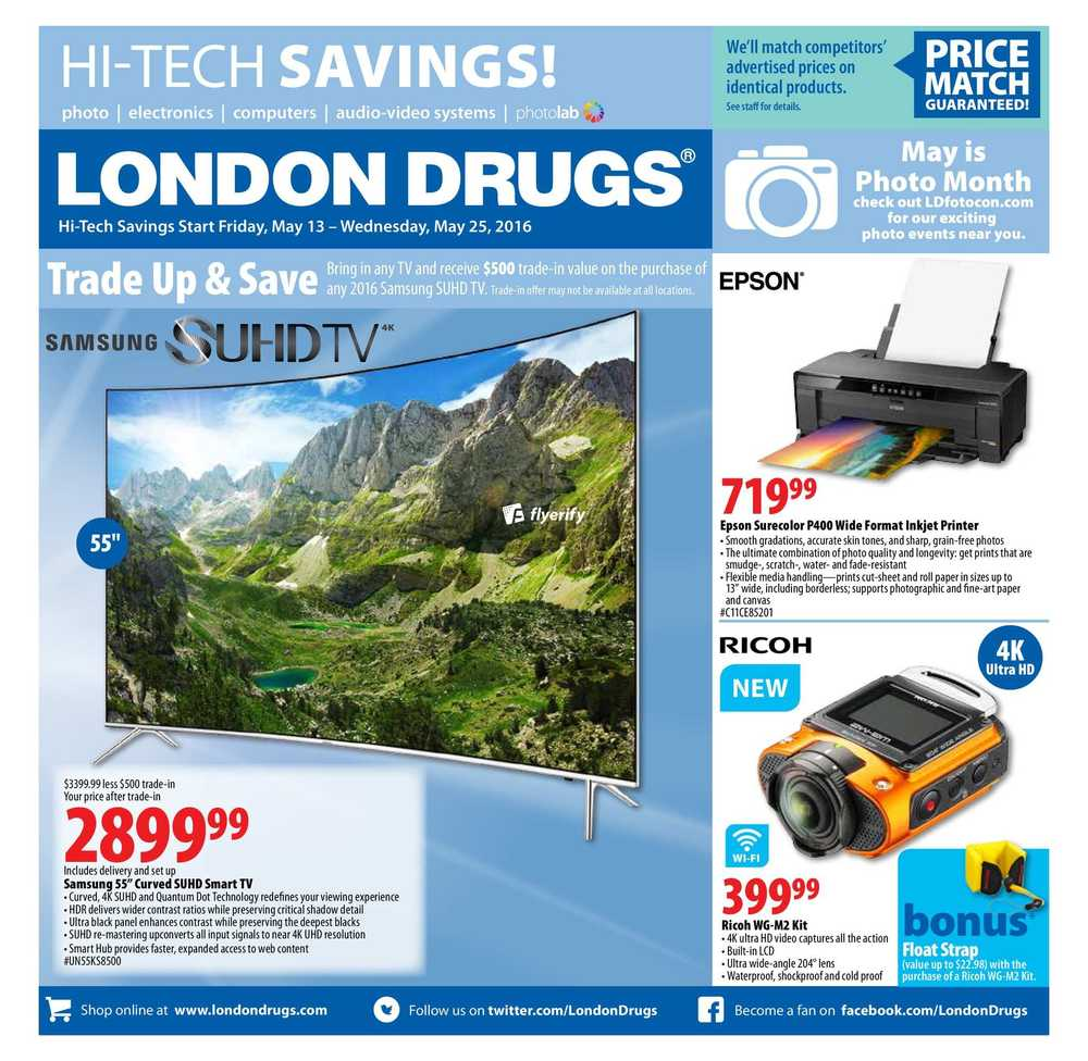 London Drugs Hi-Tech Savings Flyer May 13 to 25 Canada