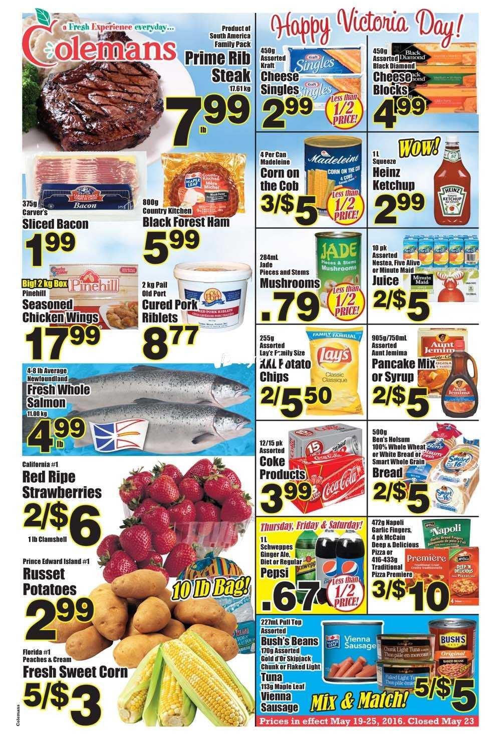Coleman 39 s flyers for Coleman s fish market