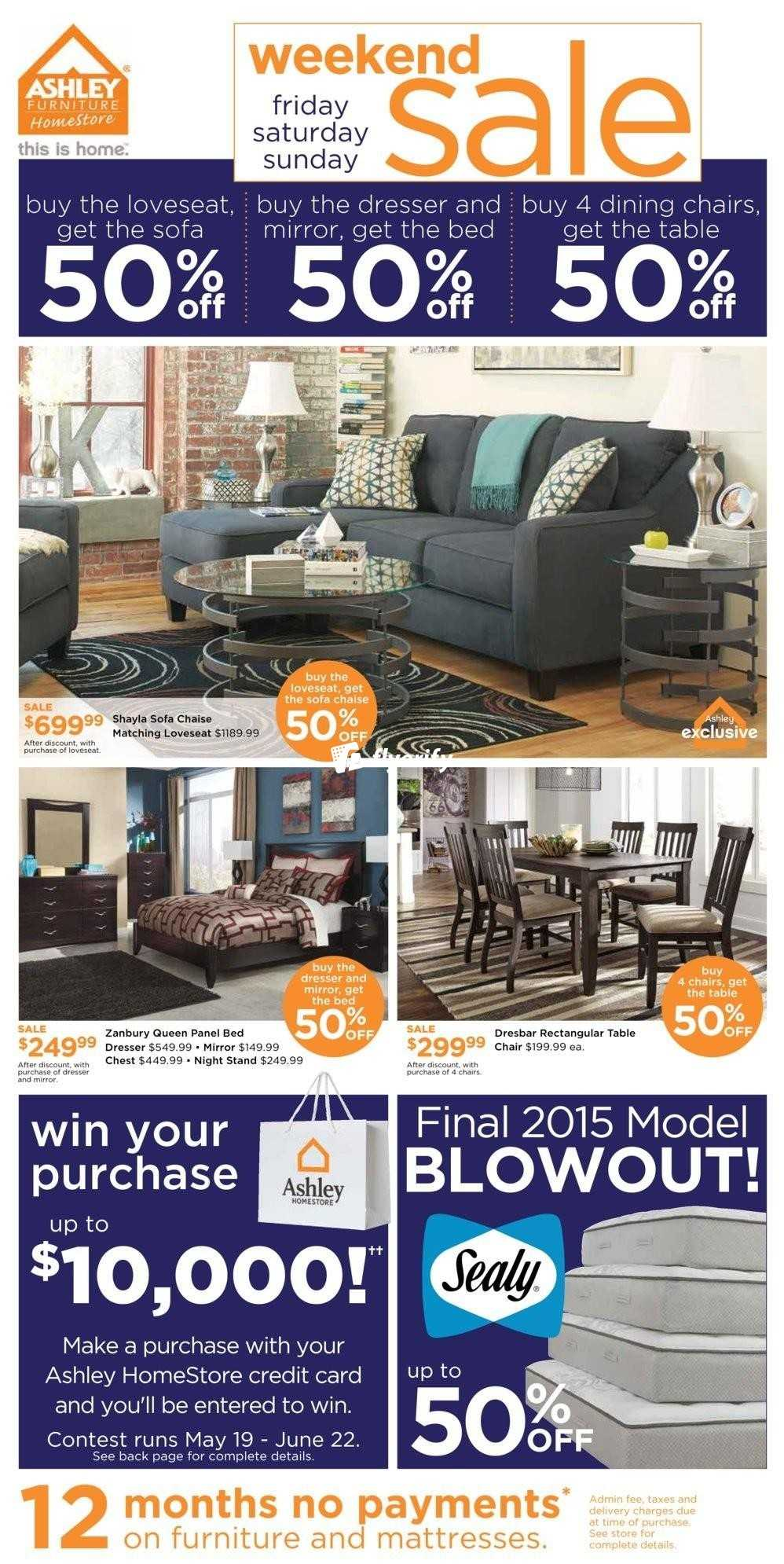 Ashley Furniture Homestore On Flyer May 20 To 22 Canada