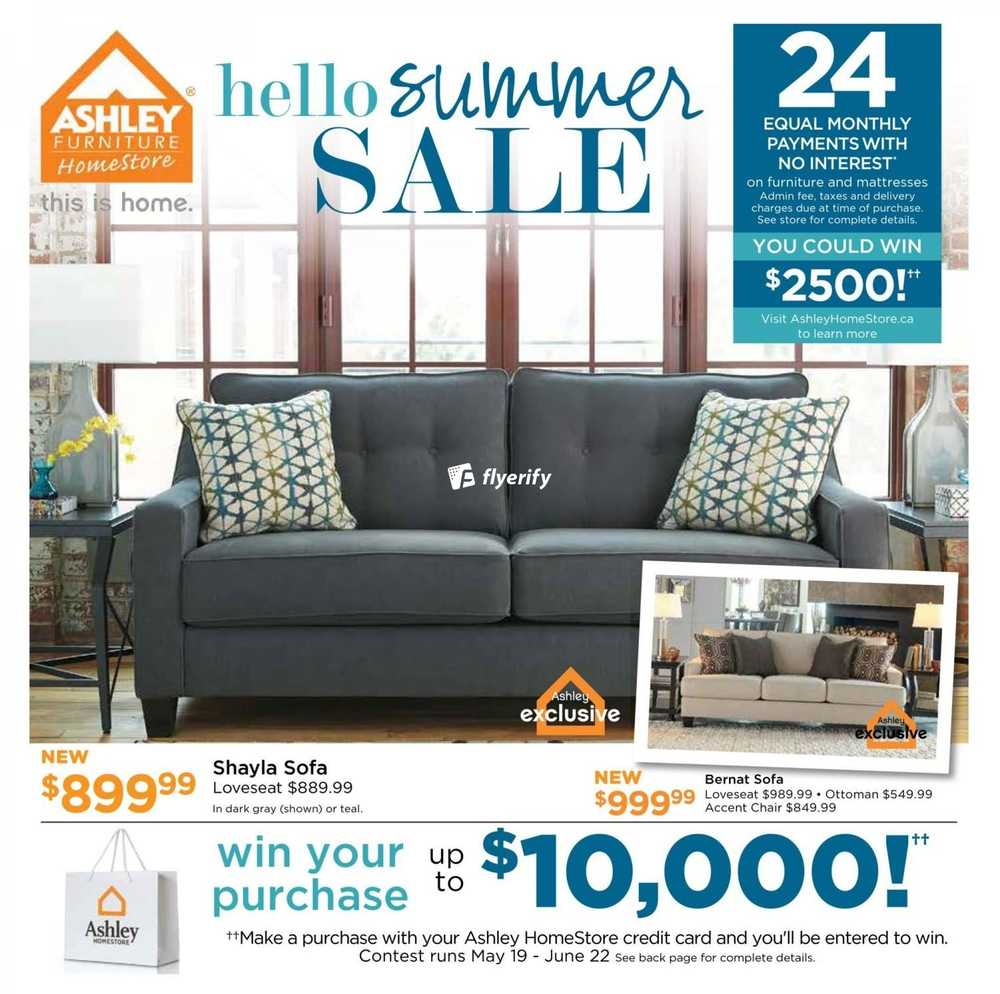 Ashley furniture homestore on flyer june 2 to 19 canada for Ashley furniture homestore canada