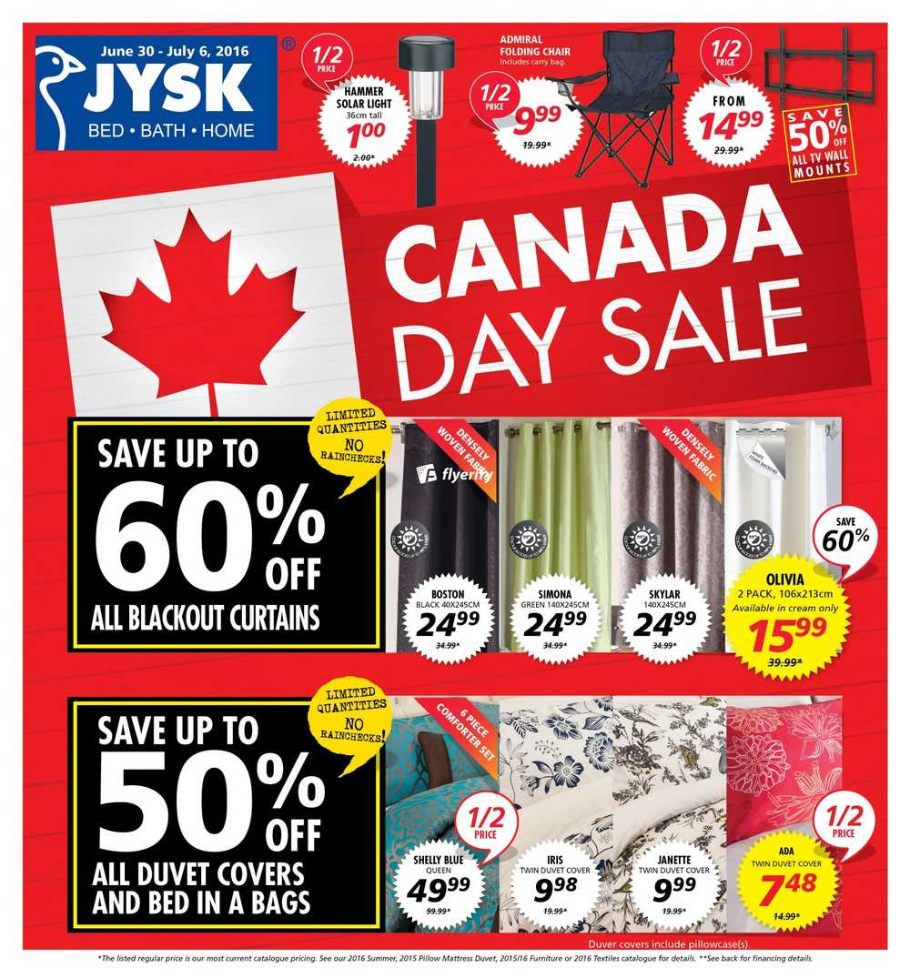 source jysk flyer june 30 to july 6 canada
