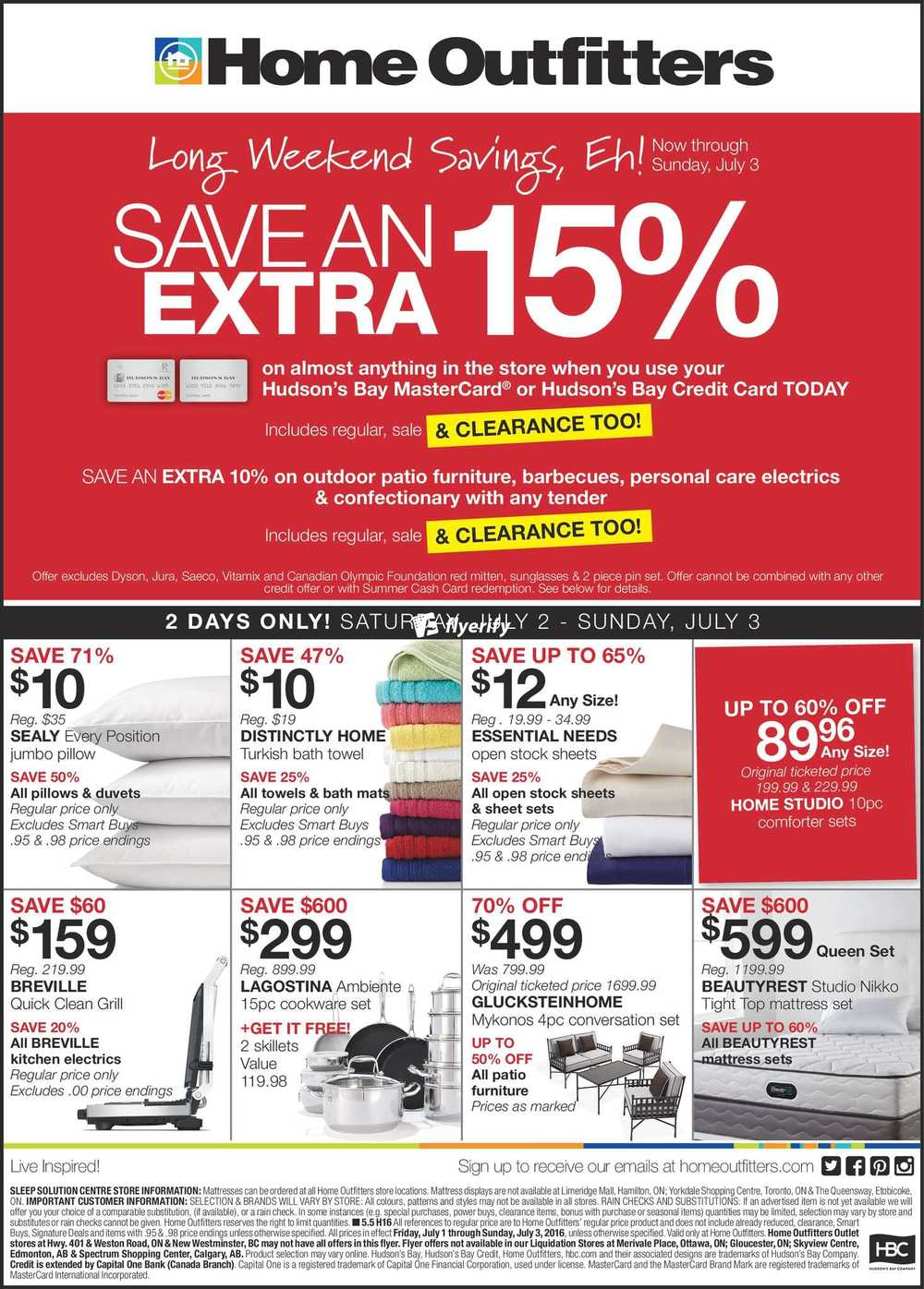 Home Outfitters Flyer July 1 To 3 Canada