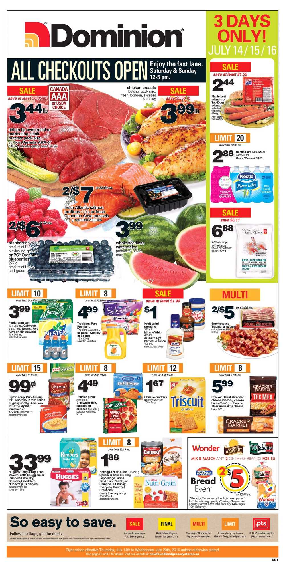 Dominion Flyer July 14 To 20 Canada