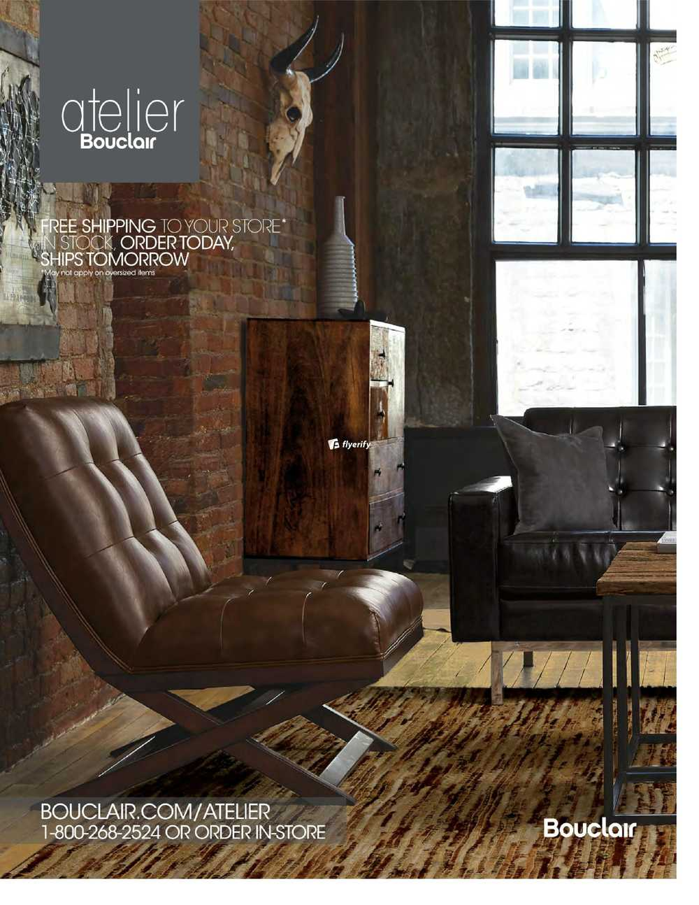 Bouclair Atelier Furniture Catalogue 2016 Canada