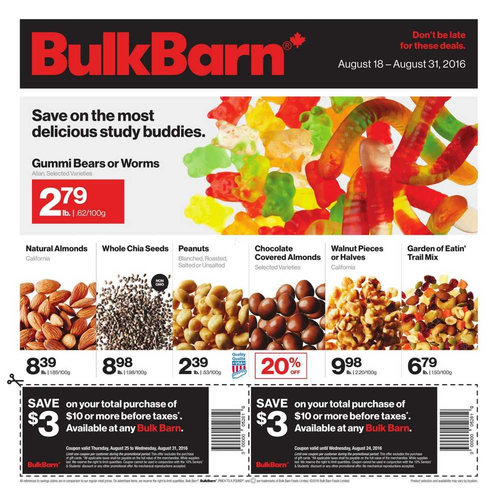 bulk barn flyersbulk barn (on) flyer august 19 to 31