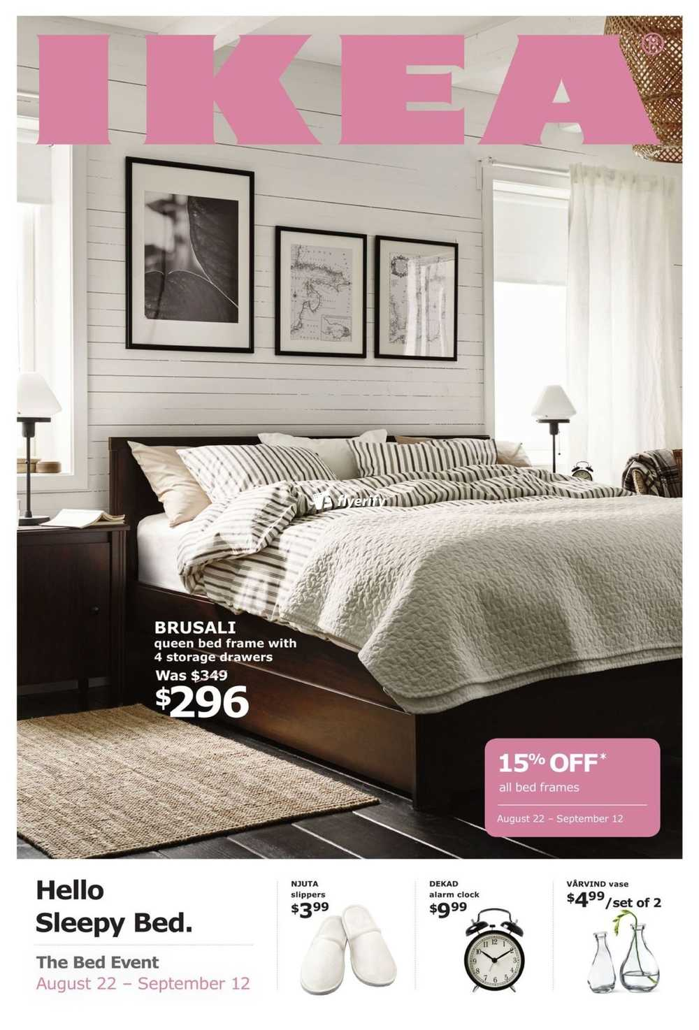 IKEA Bed Event Flyer August 10 to September 10 Canada