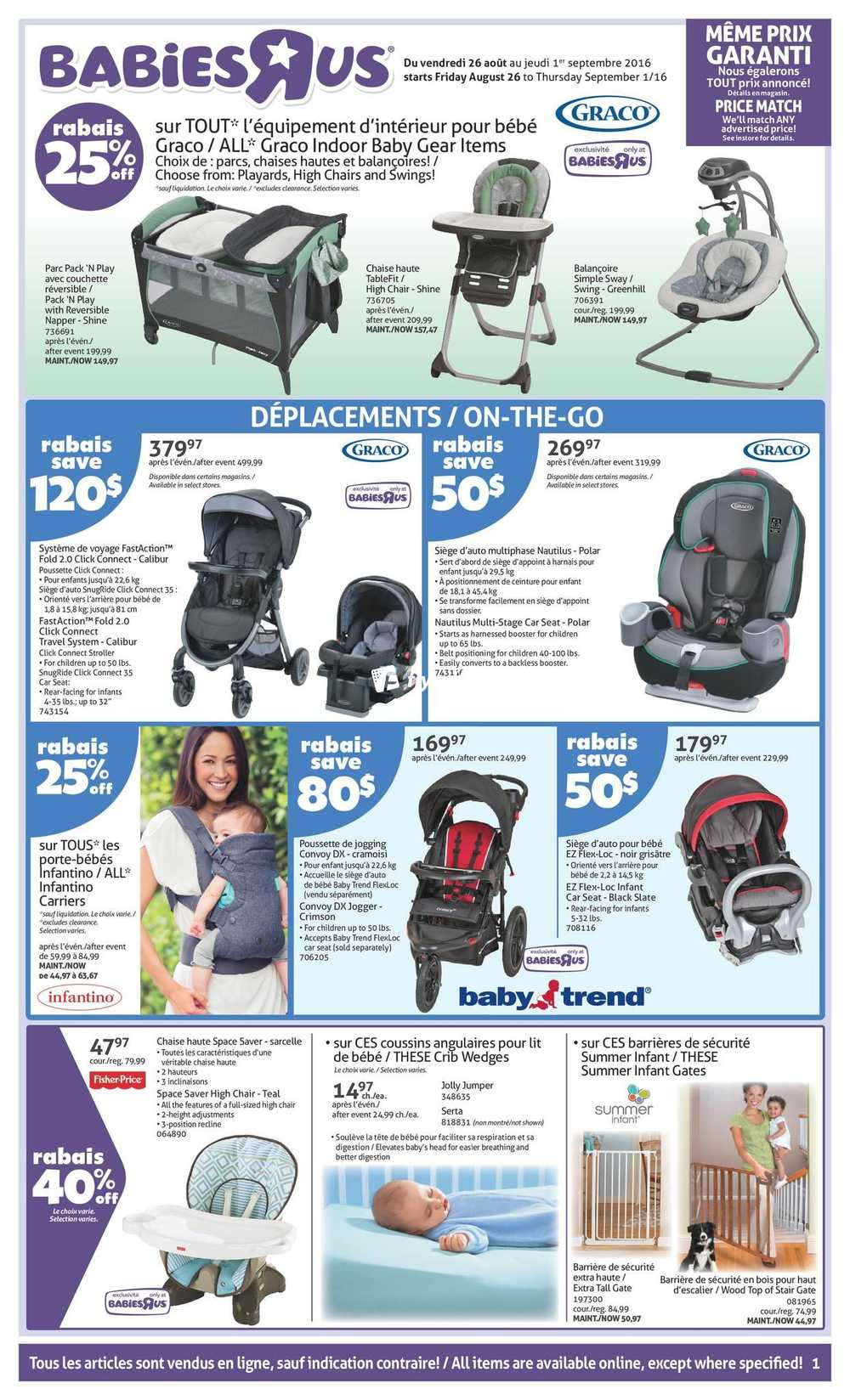 Babies R Us Canada Qc Flyer Aug 26 To Sep 1 Canada