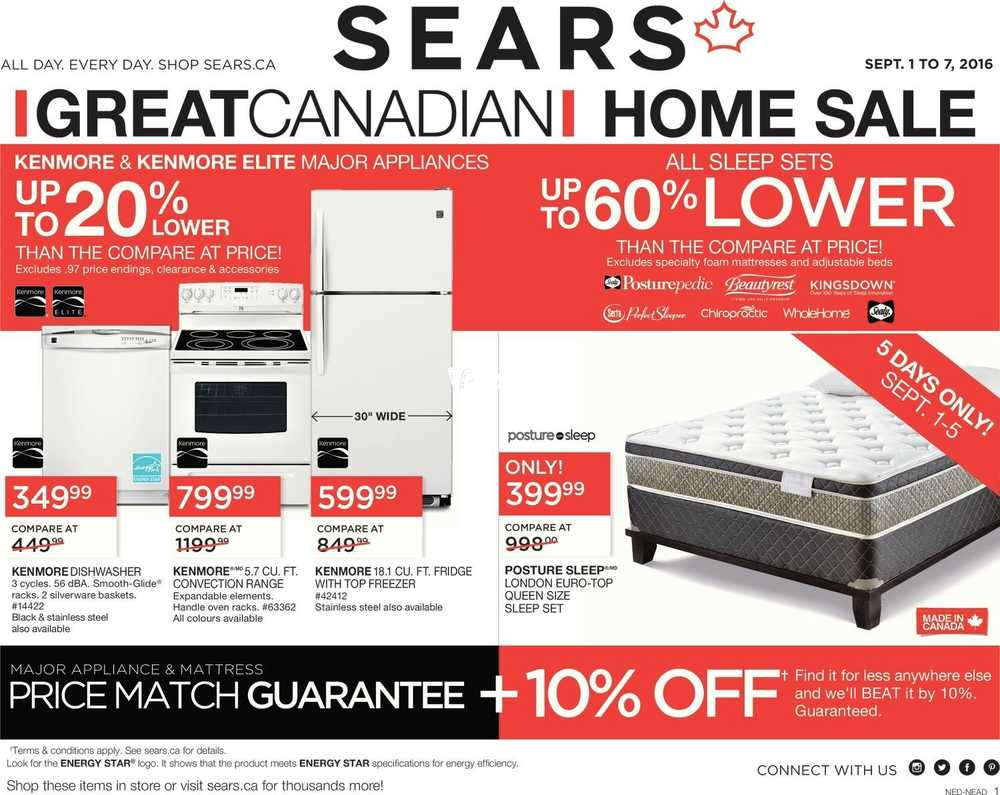 sears flyers sears great canadian home flyer 1 to 7