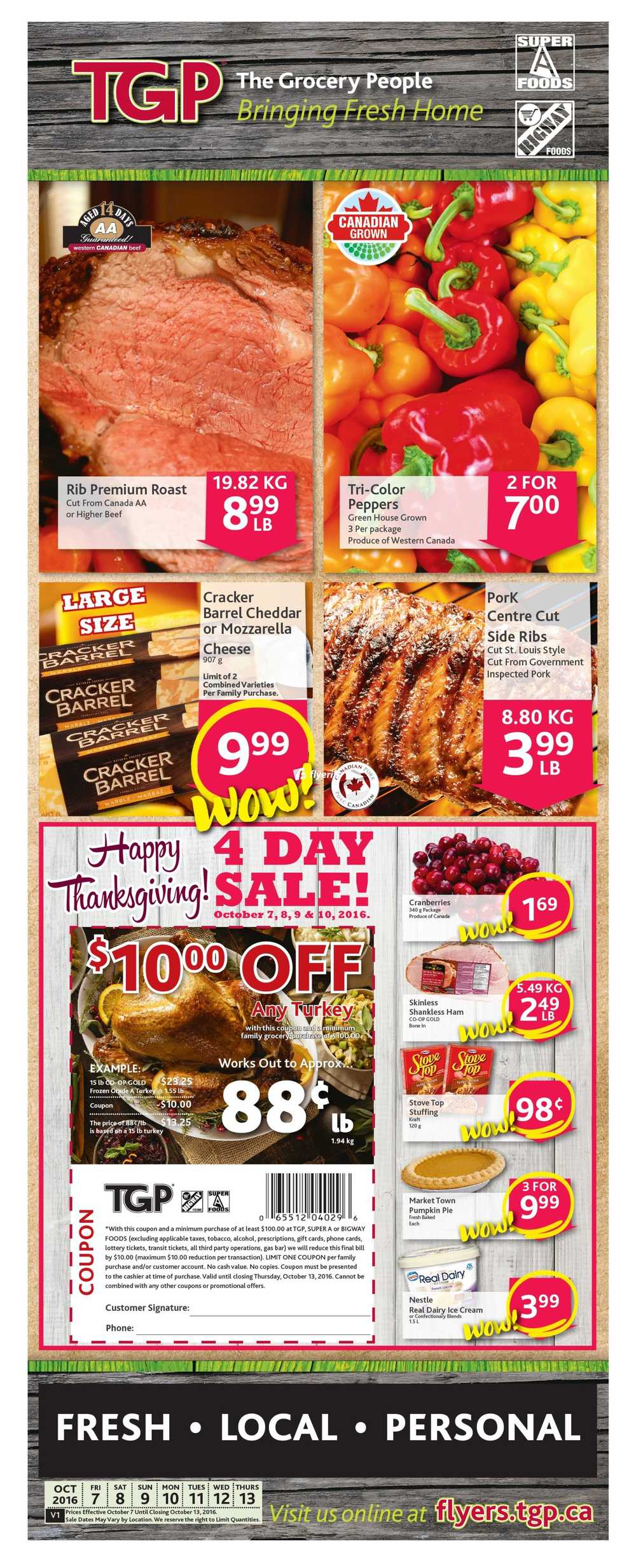 bigway foods super a foods flyers tgp the grocery people flyer 7 to 13