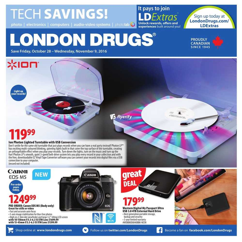 london drugs tech savings flyer october 28 to november 9 canada. Black Bedroom Furniture Sets. Home Design Ideas