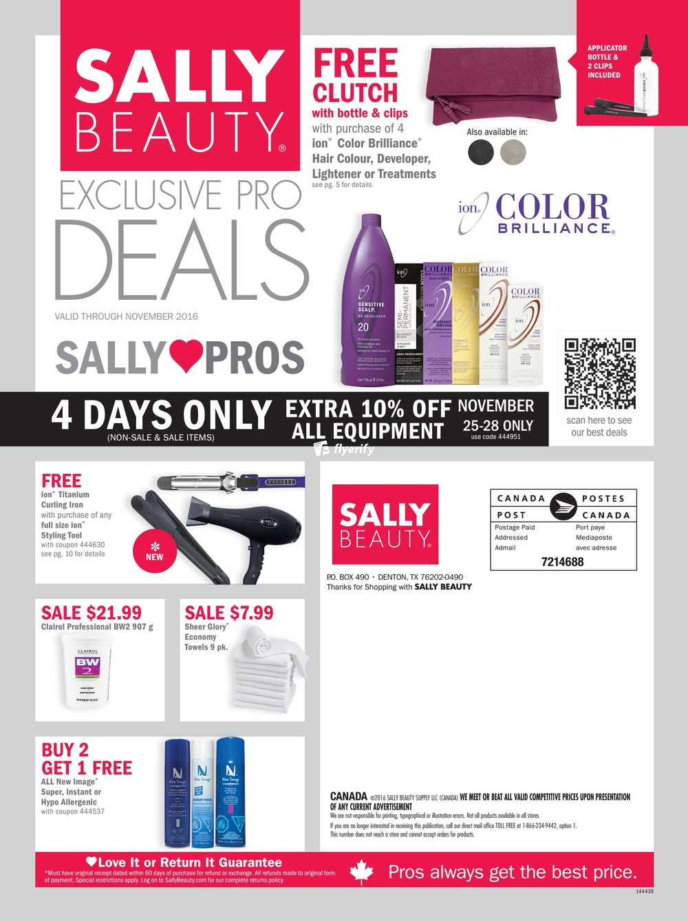 Sally Beauty Supply Pro Flyer November 1 To 30 Canada