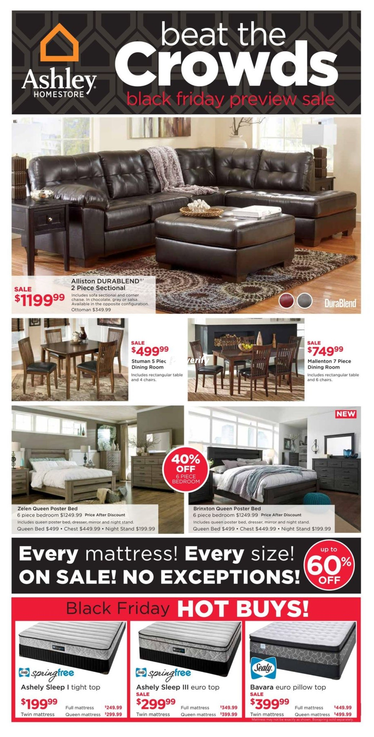 Ashley Home Store Black Friday Preview Sale On Flyer November 17 To 23 Canada