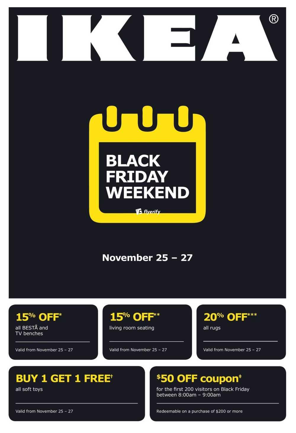 ikea black friday weekend flyer november 25 to 27 canada. Black Bedroom Furniture Sets. Home Design Ideas