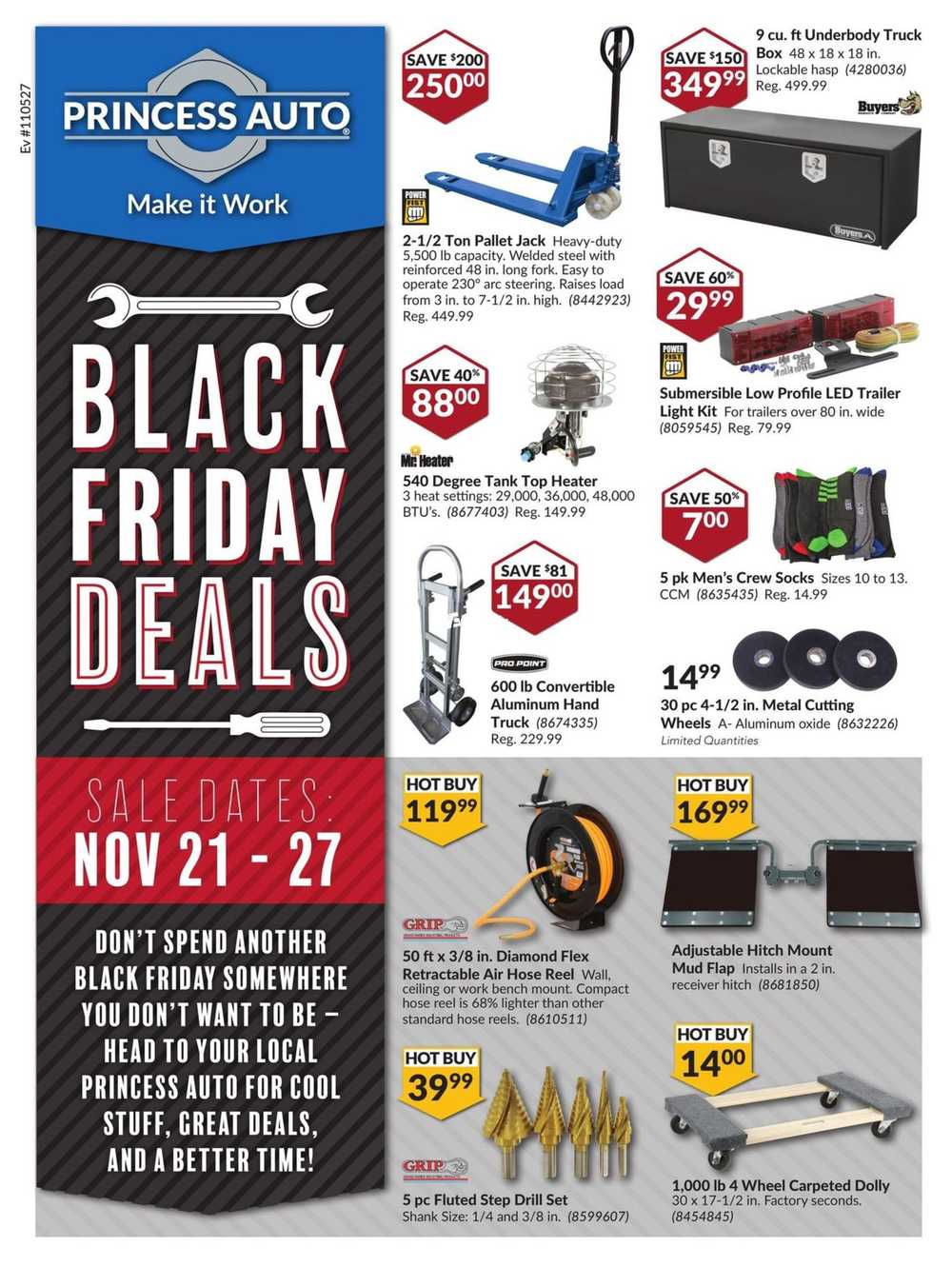 princess auto black friday deals flyer november 21 to 27 canada. Black Bedroom Furniture Sets. Home Design Ideas