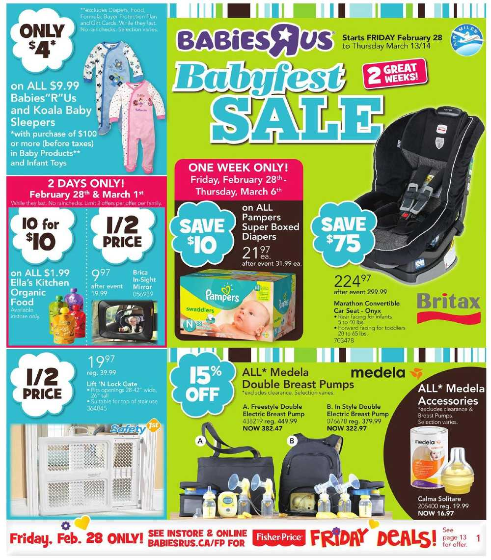 Toys R Us Flyer : Babies r us babyfest sale flyer february to march canada