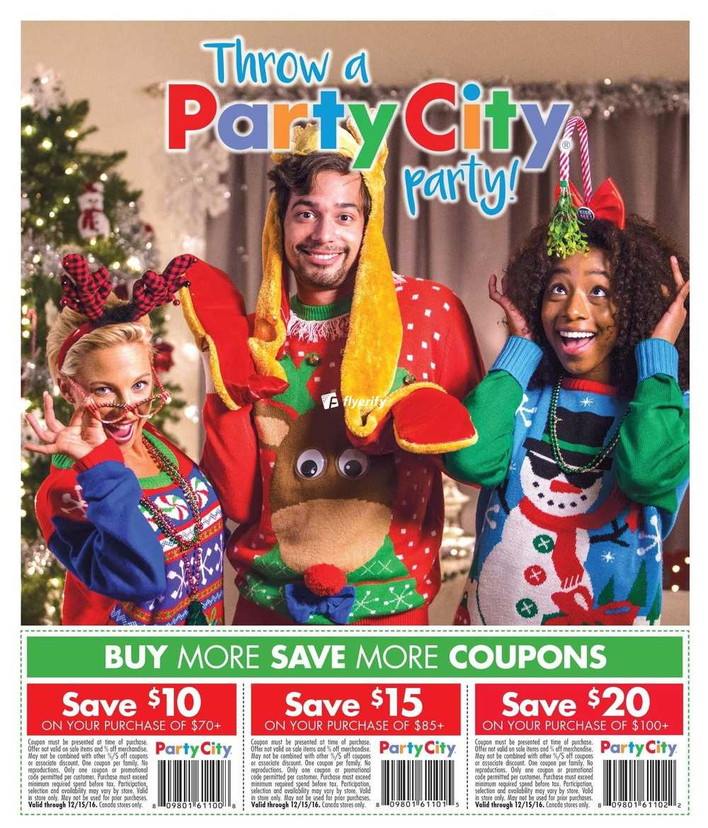 party city flyer december 1 to 24
