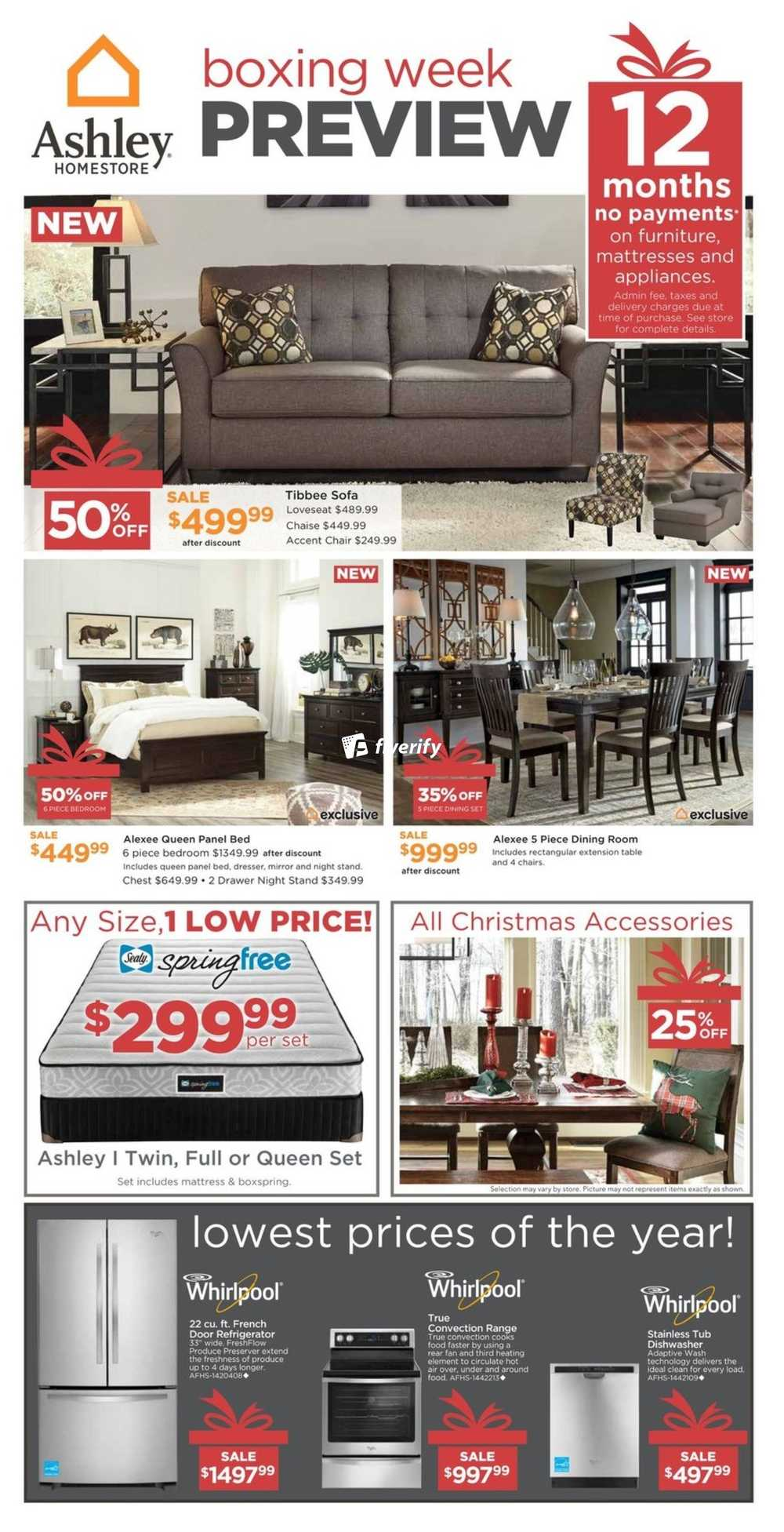 Ashley Homestore (West) Flyer December 15 To 23