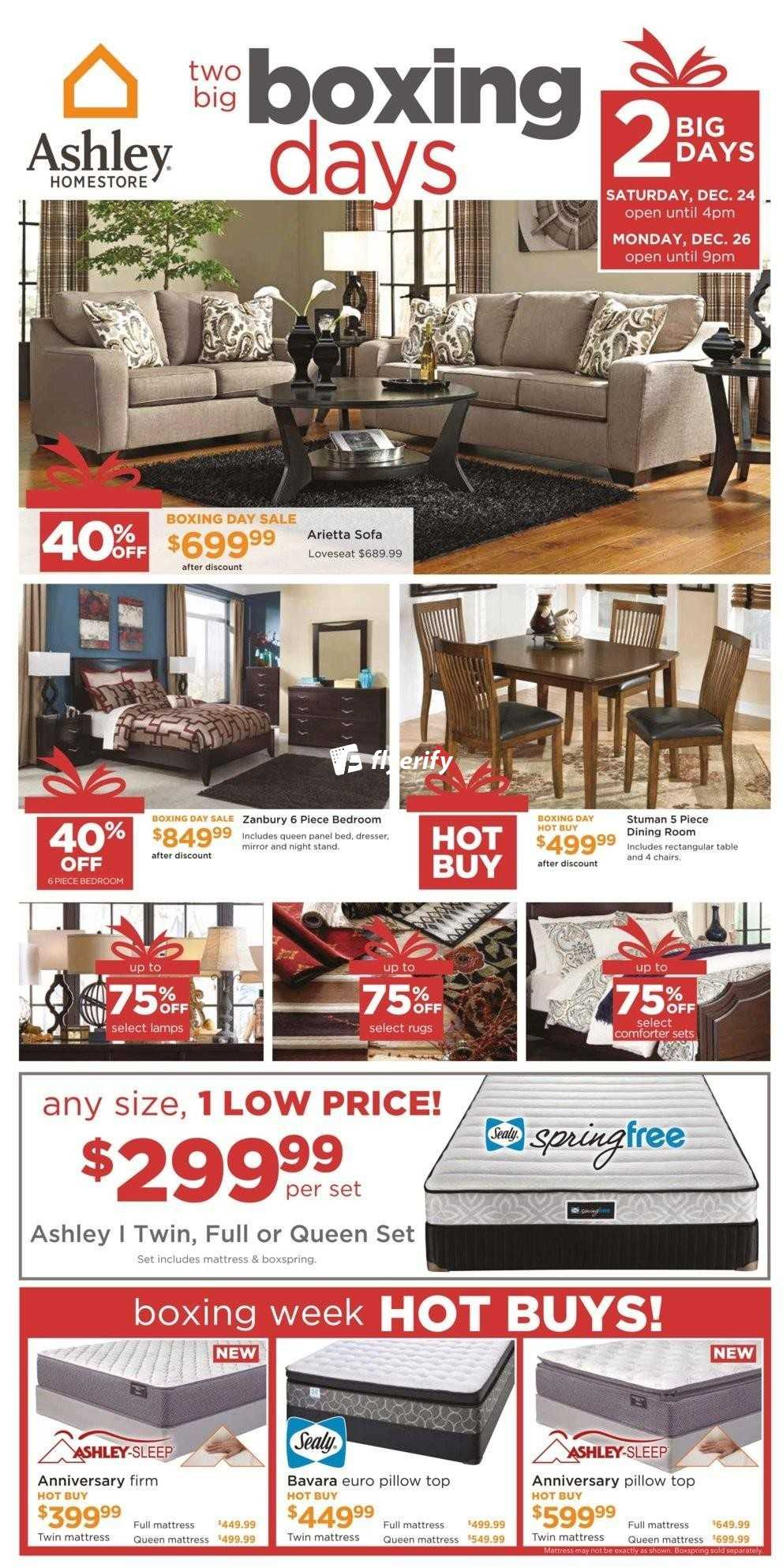 Ashley homestore on boxing day flyer december 24 26 canada for Ashley furniture homestore canada