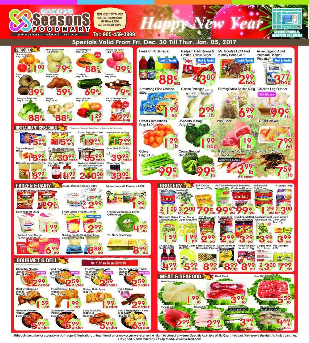 Seasons Food Market Flyer Brampton