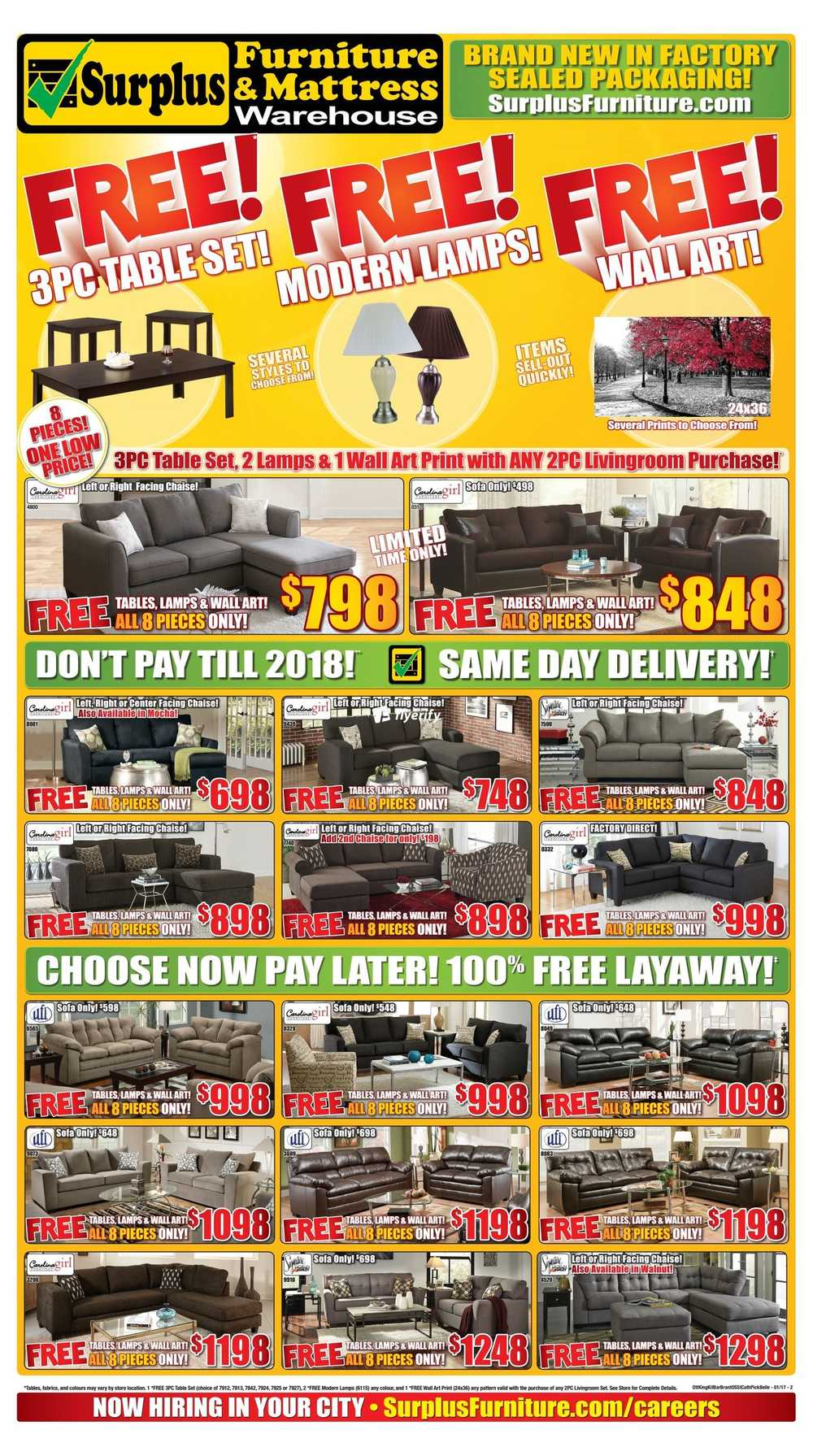 Surplus Furniture & Mattress Warehouse (Ottawa) Flyer January 3 to ...