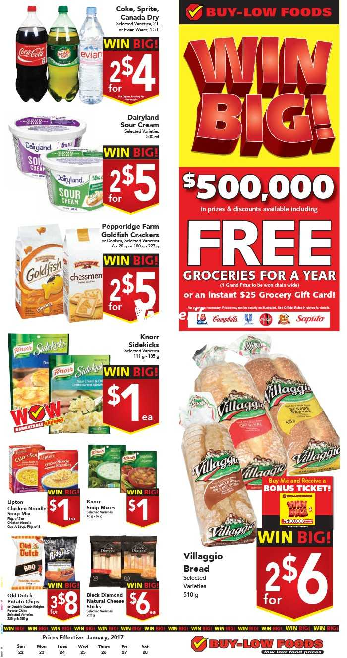 Buy Low Foods Flyer January 22 To 28 Canada Sprite Pet 15l Comments
