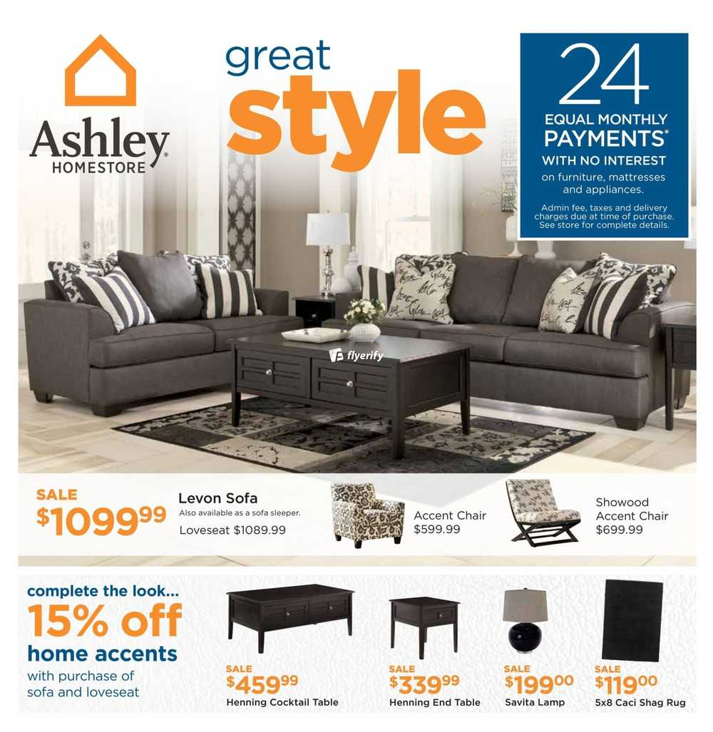 Ashley homestore west flyer february 2 to 22 canada for Ashley furniture homestore canada