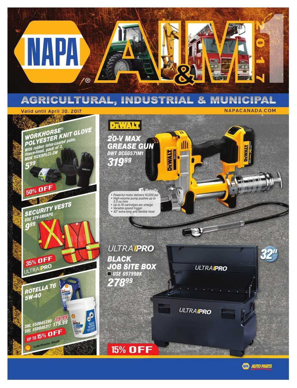 NAPA Auto Parts Flyers