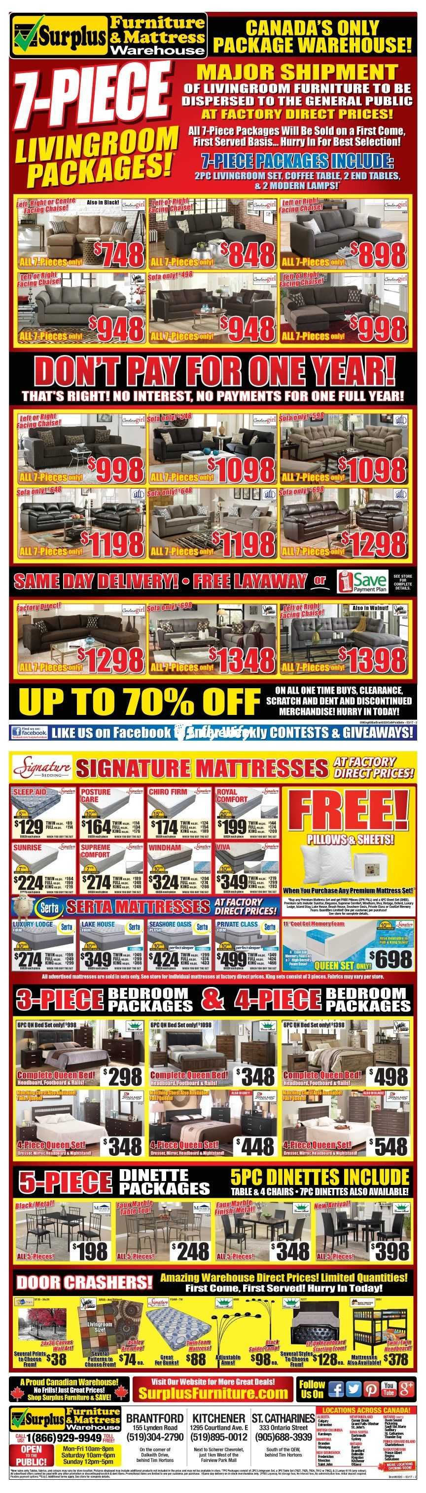 Surplus Furniture Kitchener Surplus Furniture Mattress Warehouse Kitchener Flyer March 7