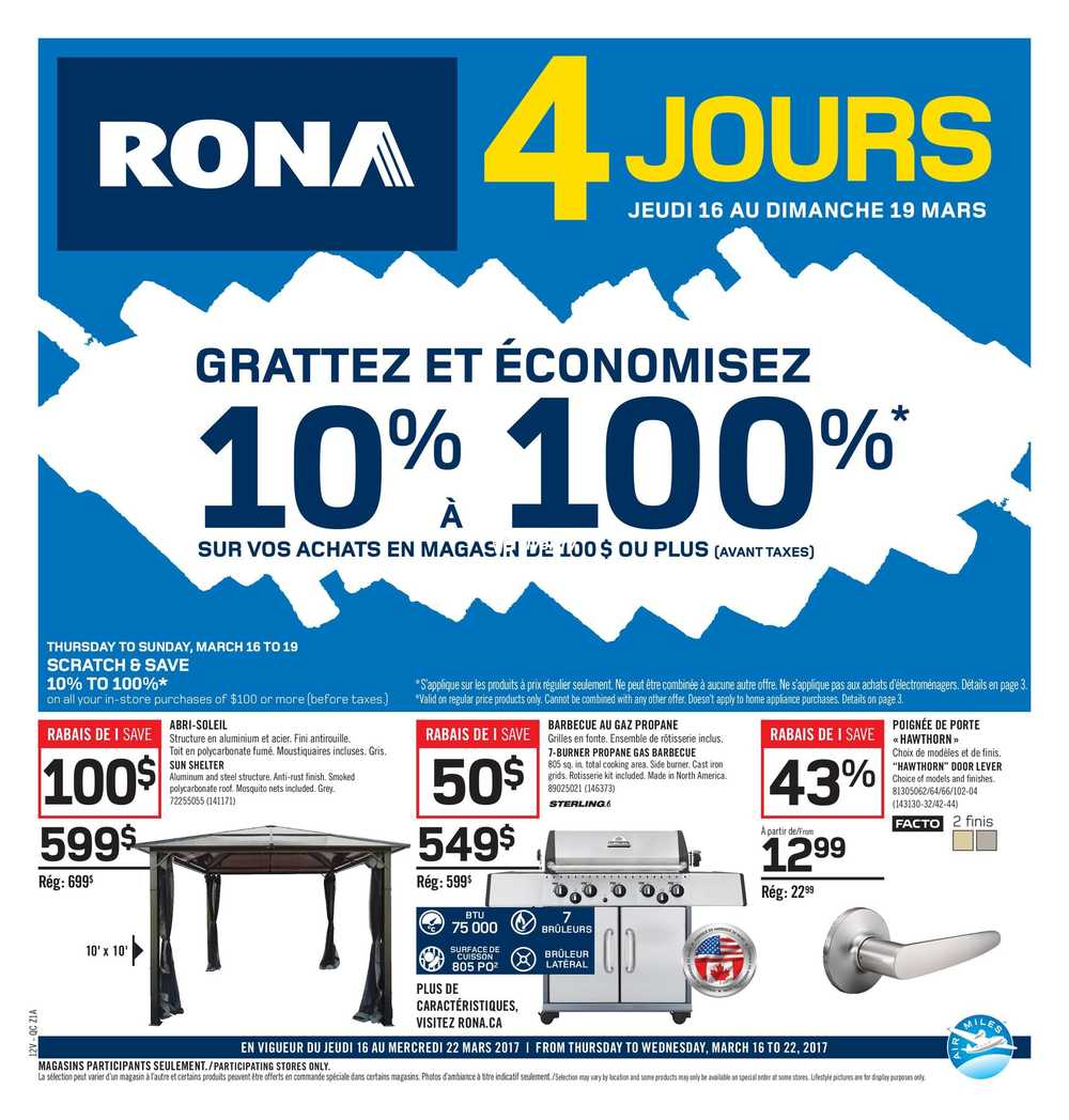 Rona (QC) Flyer March 16 to 22 Canada