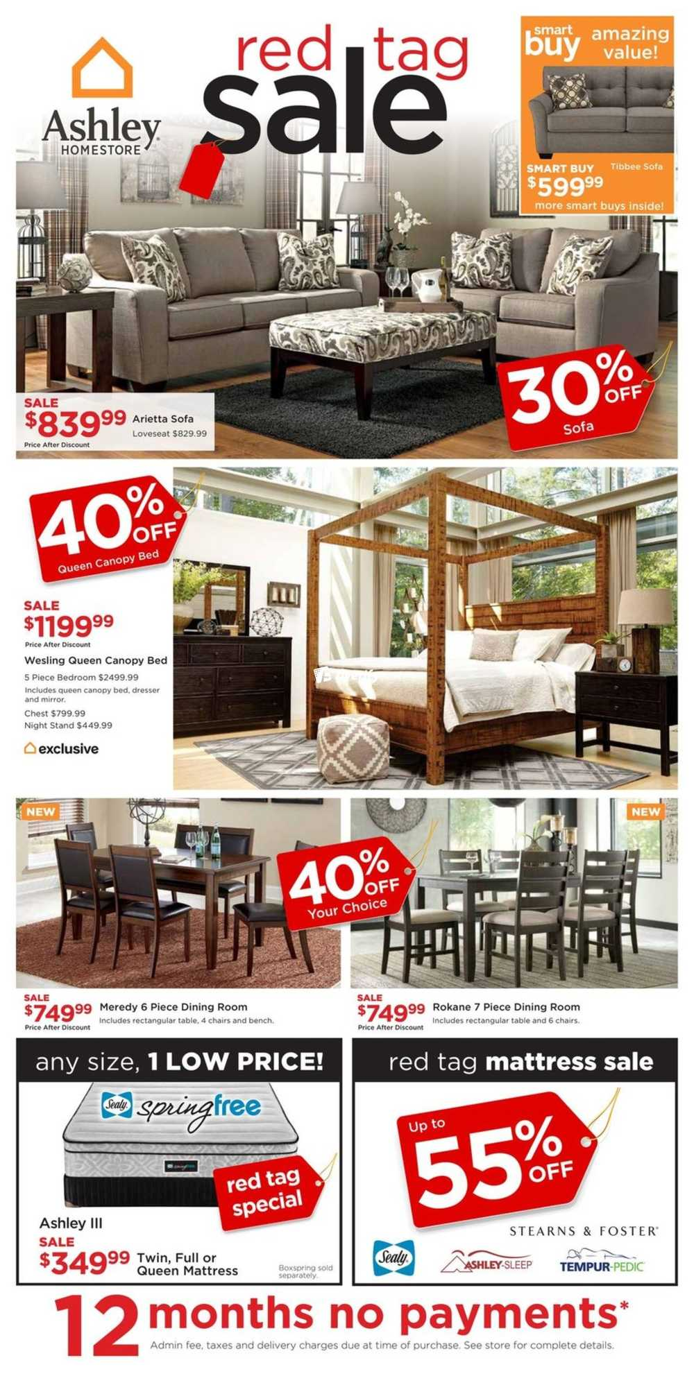 Ashley homestore on flyer march 23 to april 5 canada for Ashley furniture homestore canada