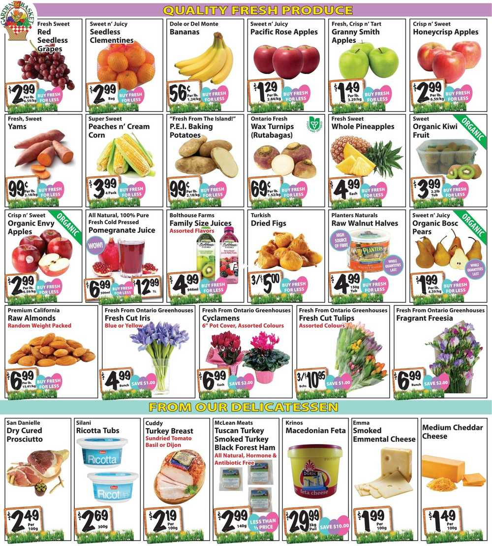 the garden basket flyer april 6 to 19 canada