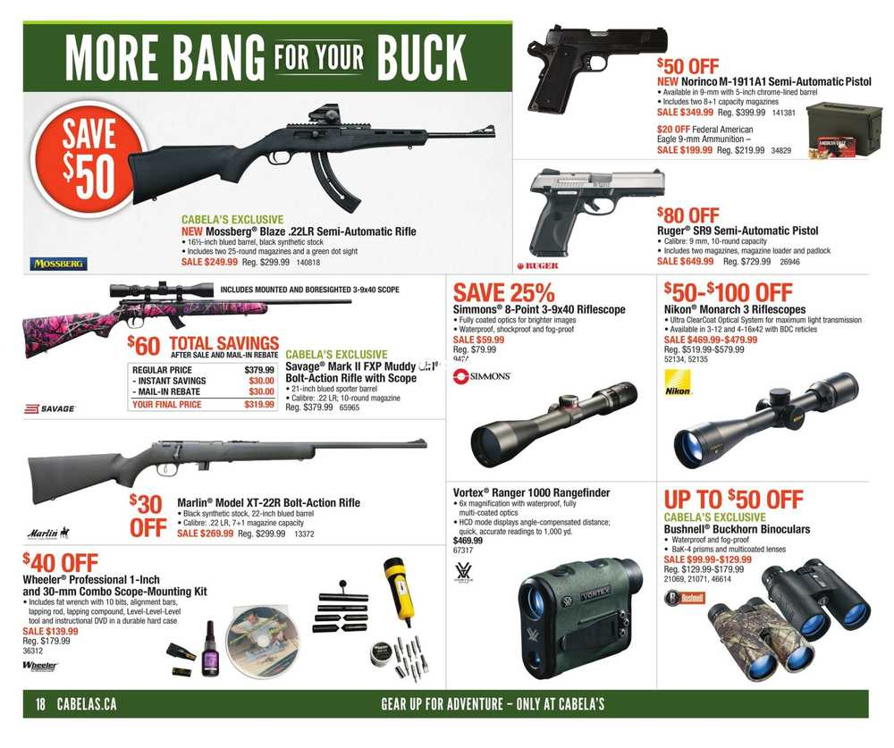 Cabela's Flyer April 20 to May 3 Canada