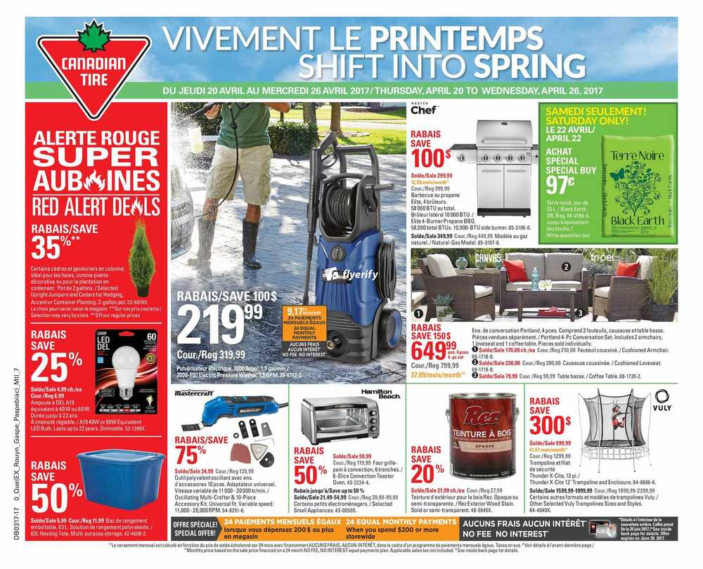 canadian tire flyers canadian tire qc flyer 20 to 26