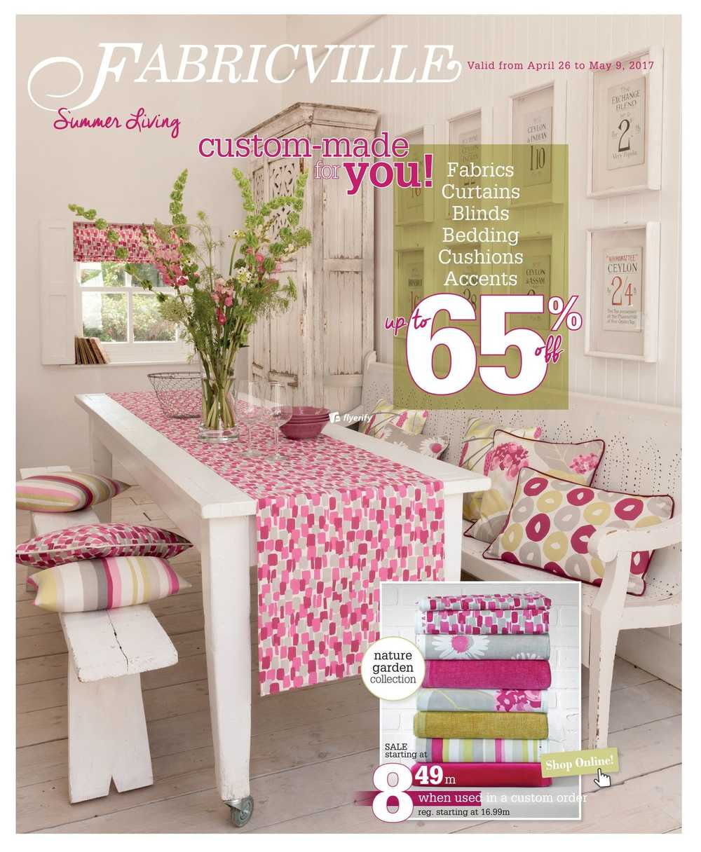 Fabricville home decor flyer april 26 to may 9 canada for Home decor canada