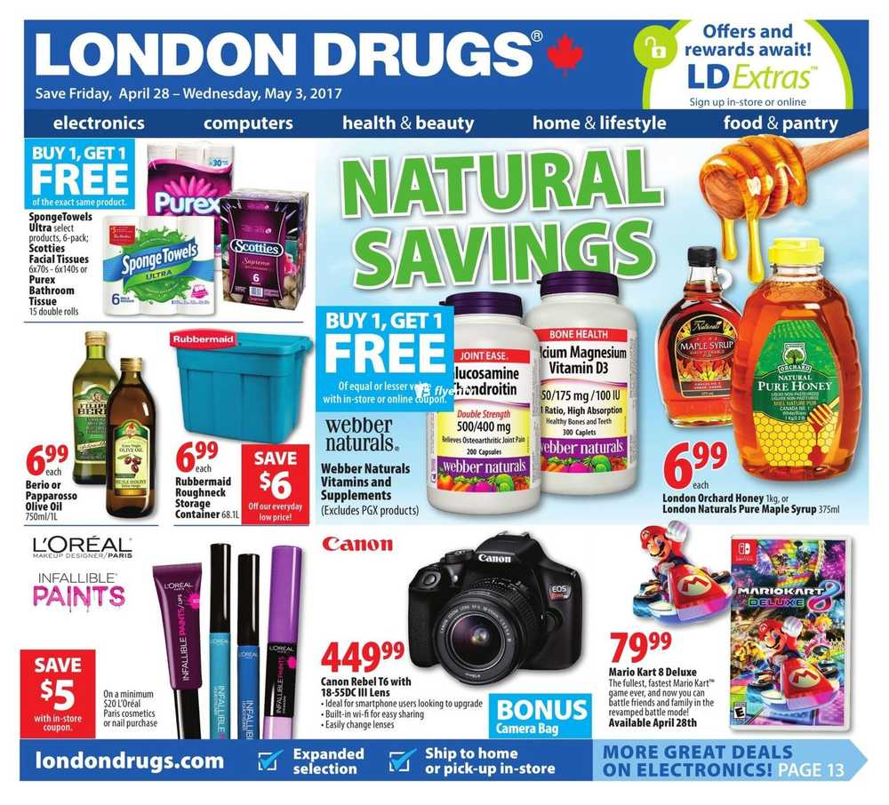london drugs flyer april 28 to may 3 canada. Black Bedroom Furniture Sets. Home Design Ideas