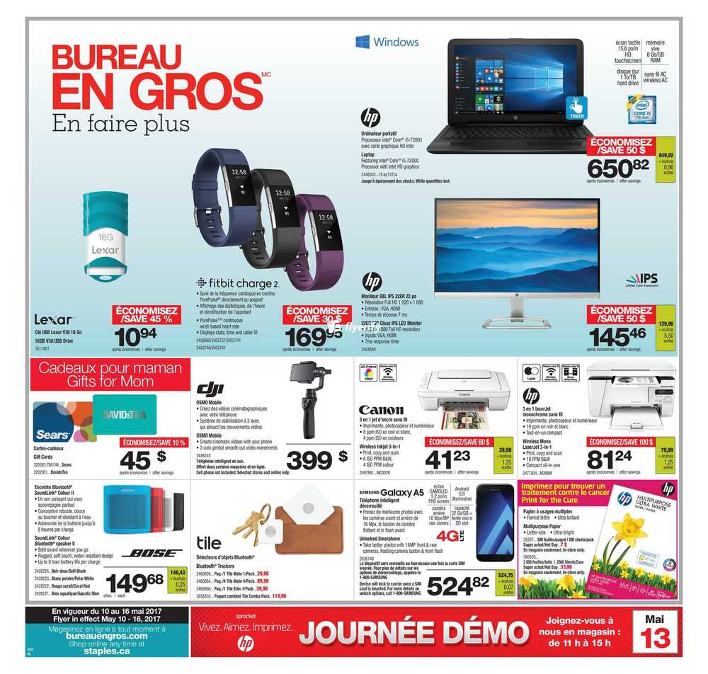 bureau en gros flyer may 10 to 16 canada