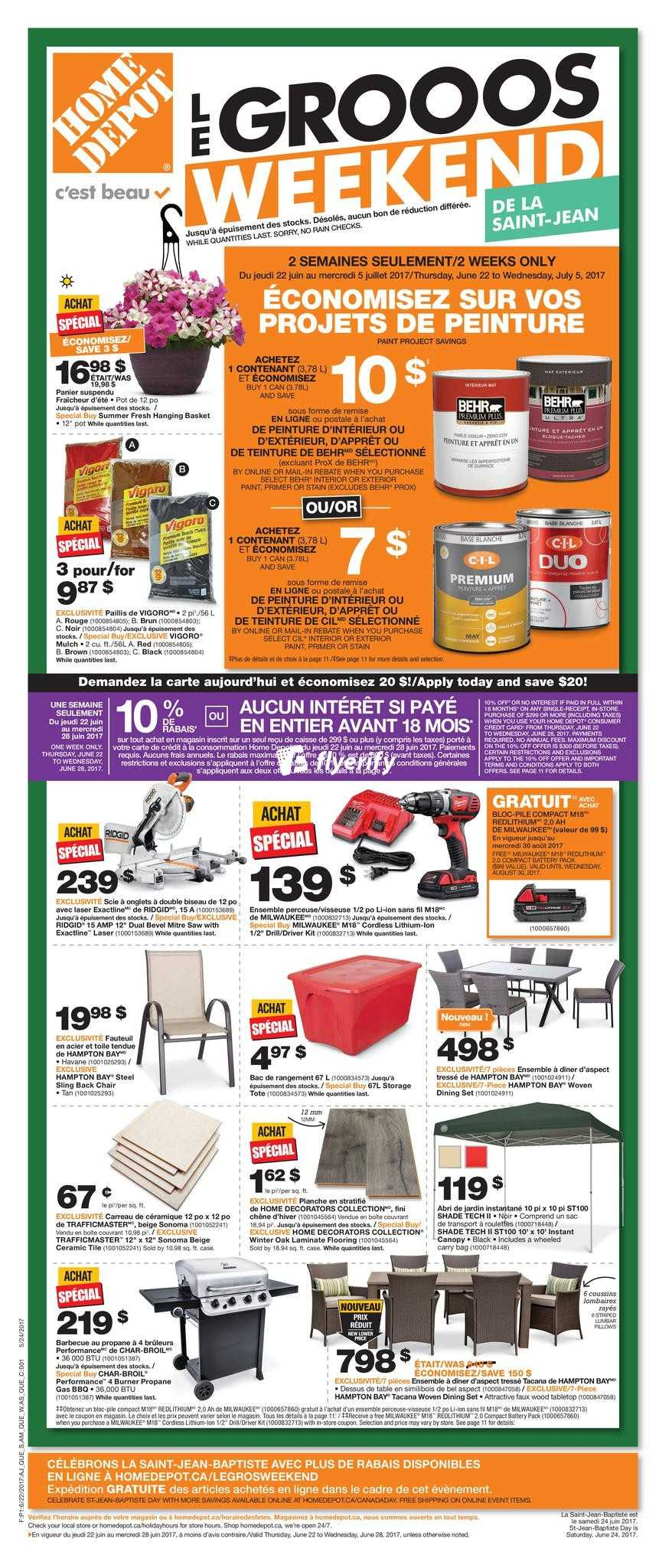 Home Depot Qc Flyer June 22 To 28 Canada
