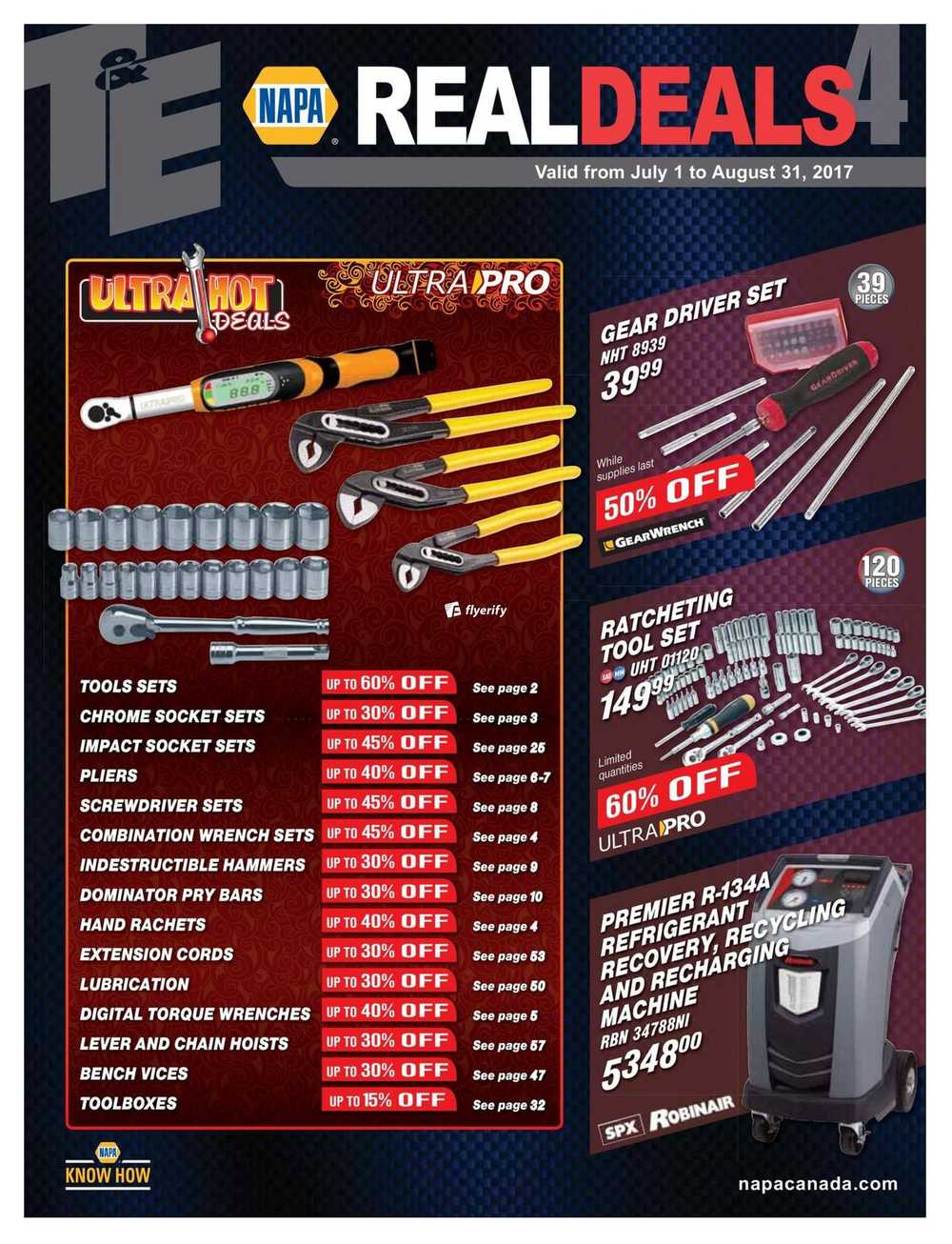 Napa Auto Parts Real Deals Catalogue July 1 To August 31