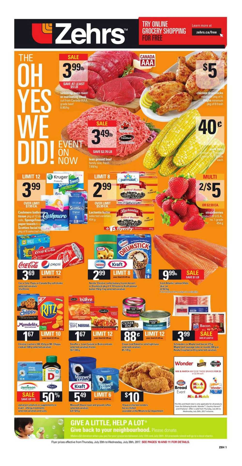 Zehrs Flyer July 20 To 26 Canada