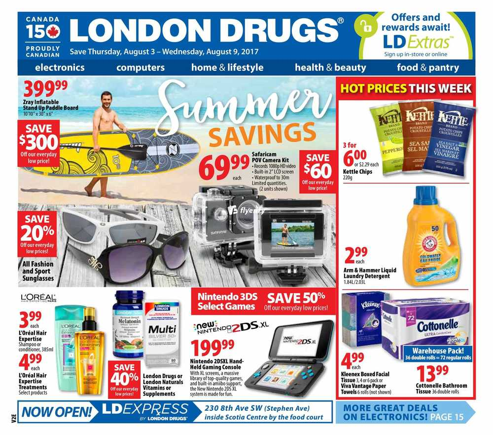 london drugs flyer august 3 to 9 canada. Black Bedroom Furniture Sets. Home Design Ideas