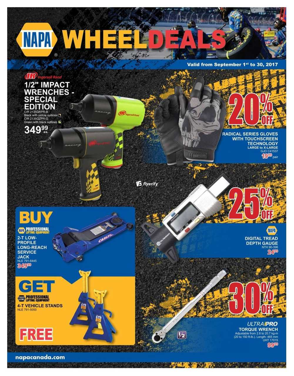 NAPA Auto Parts Wheel Deals Flyer September 1 to 30 Canada