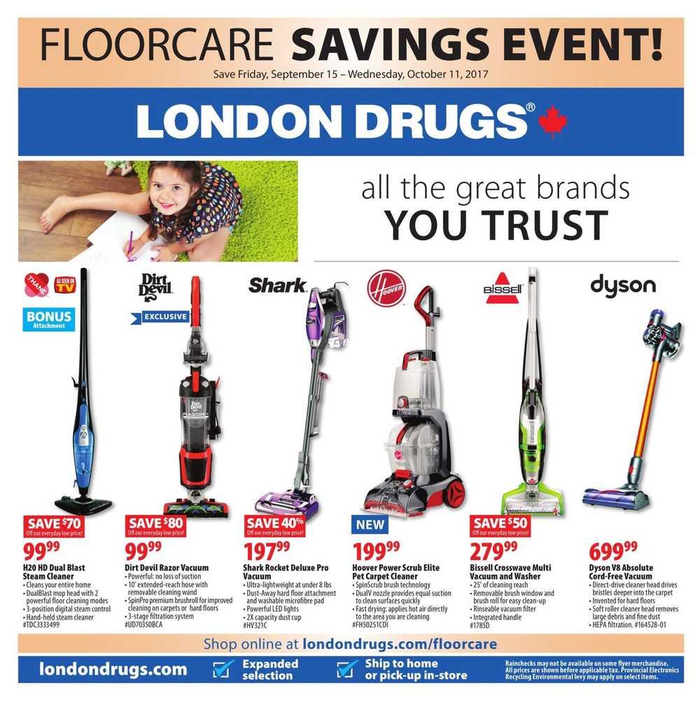 London Drugs Floorcare Savings Flyer September 15 To
