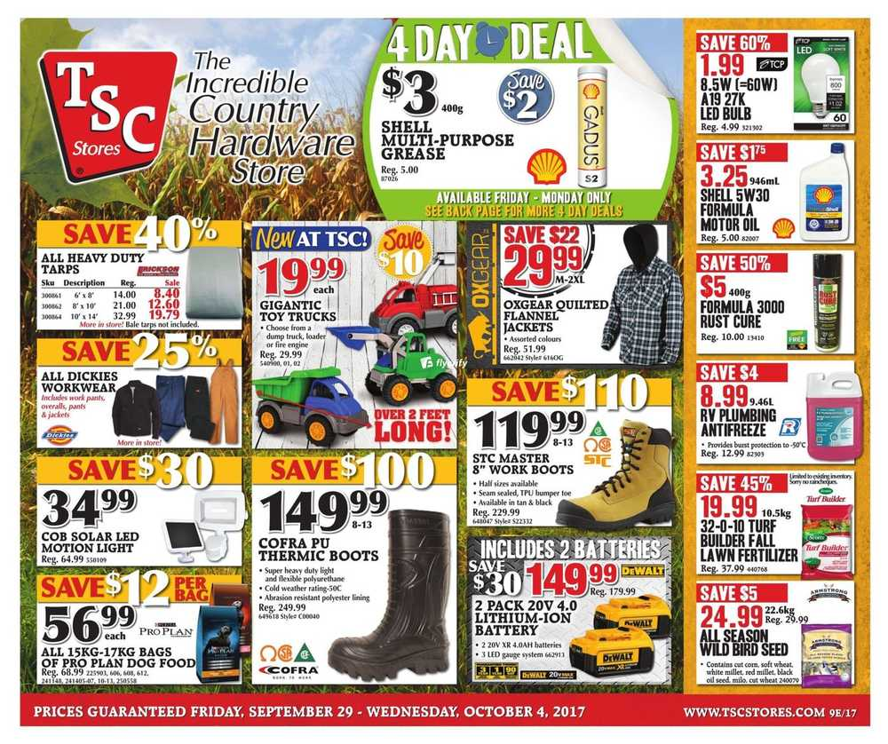 TSC Stores Flyer September 29 to October 4 Canada